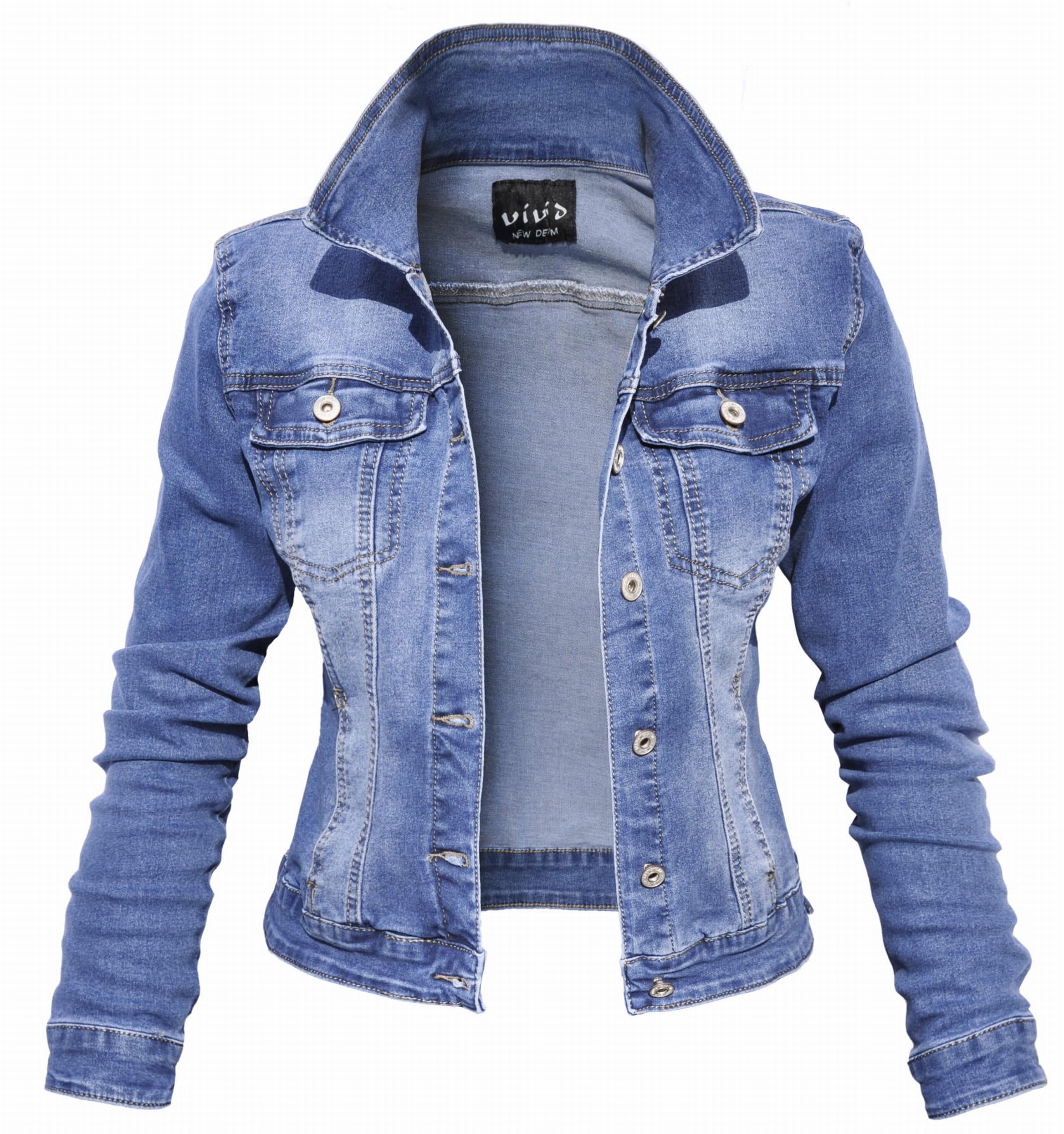 a9d4ccbb42f2f Modna Kurtka Damska Jeans Katana Jeansowa Denim Wiosna Lato Jesień 2019  model #143 sklep FASHIONAVENUE ...