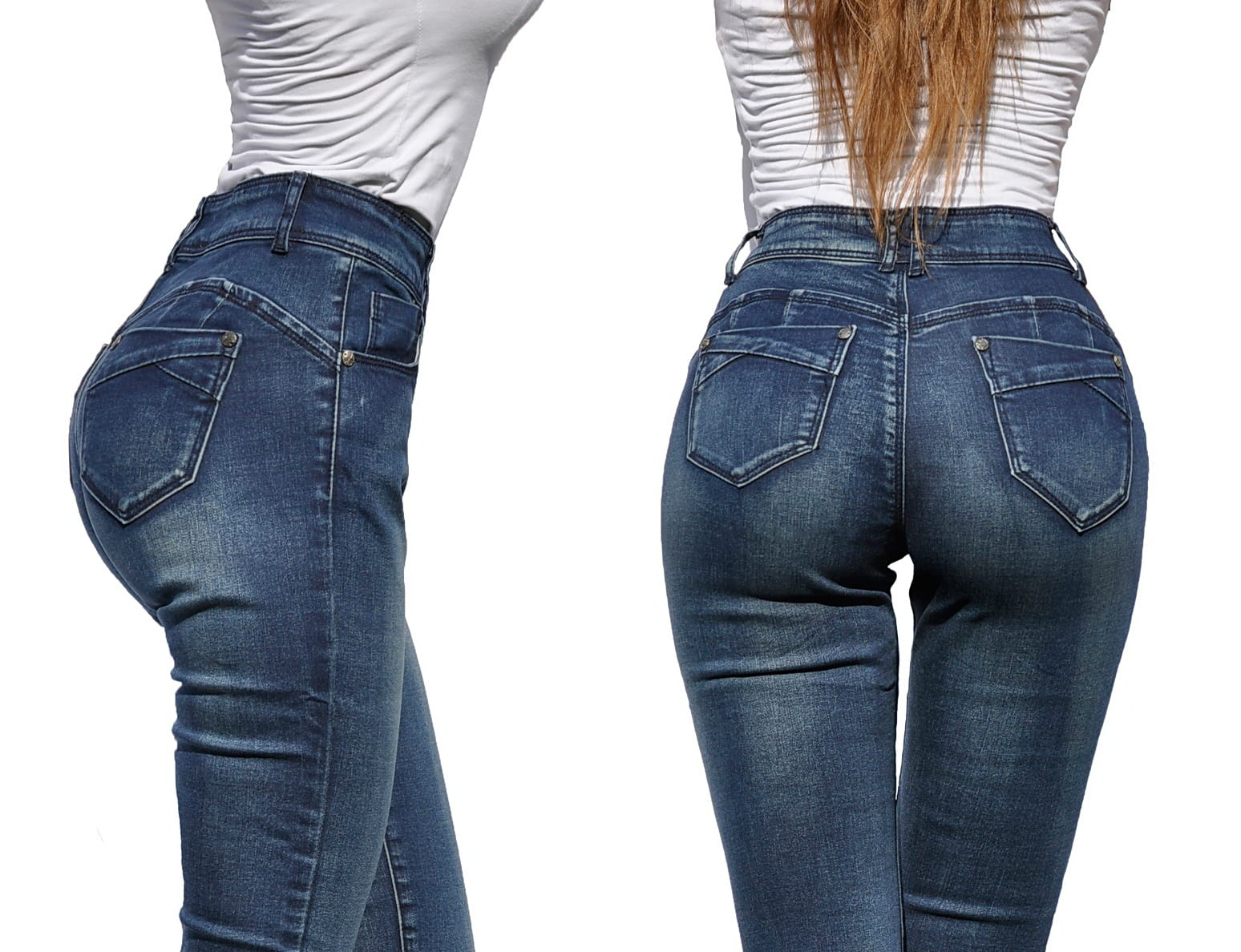 4c30cdd0 Spodnie Jeans Mamuśki Klasyczne PushUp #115
