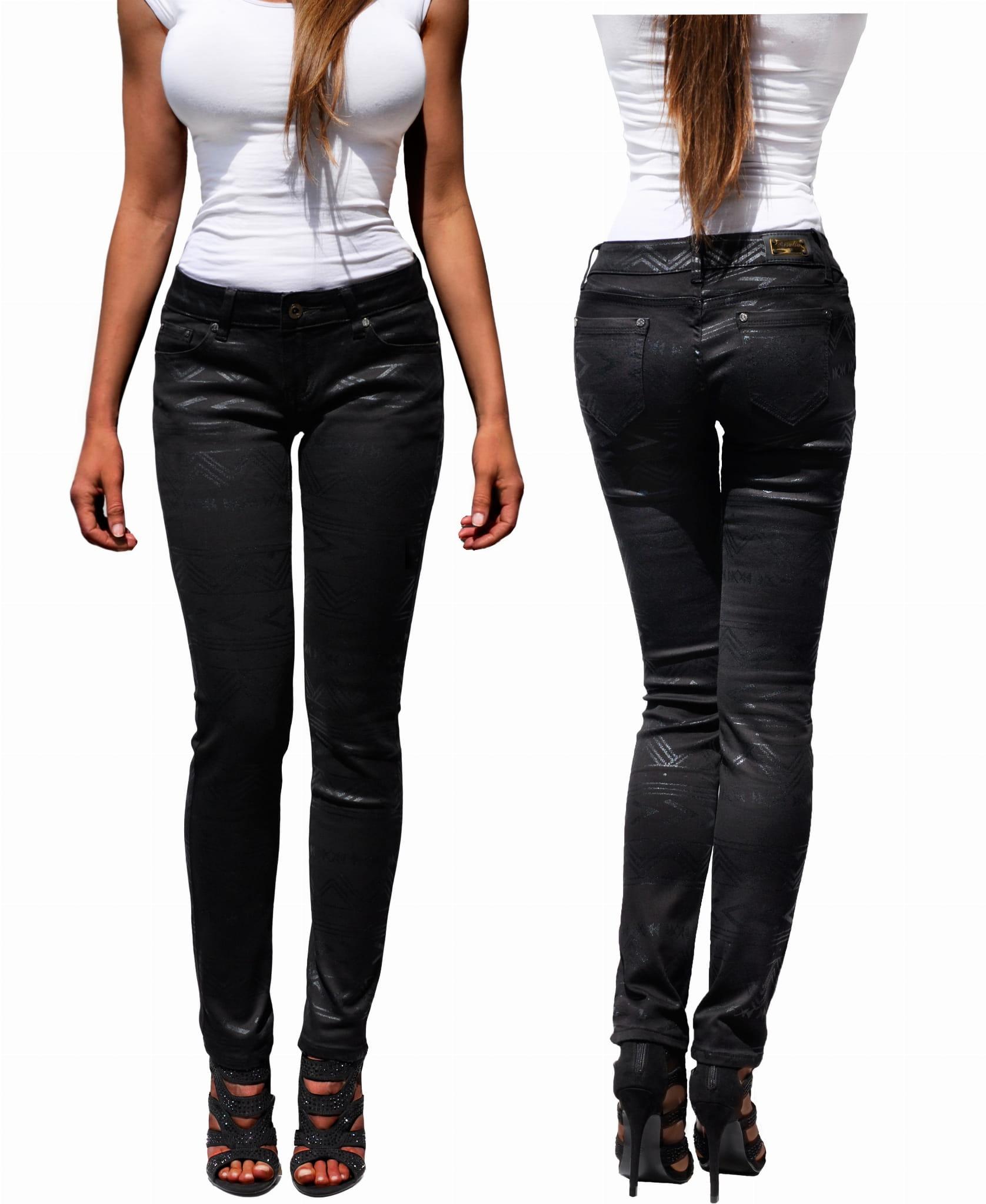czarne spodnie damskie jnsy