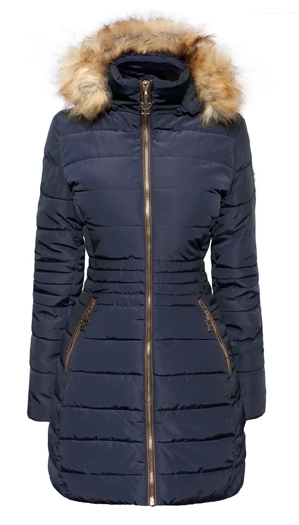 damska długa kurtka zimowa